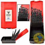 High Speed Steel 25 Piece Black Oxide Drill Set