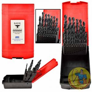 High Speed Steel 25 Piece Black Oxide Drill Set