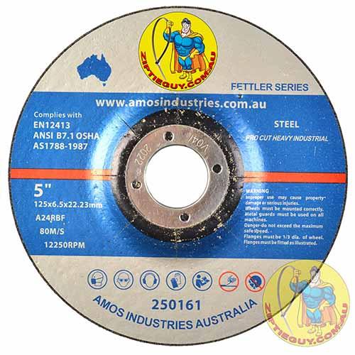 5″ 125mm x 6.5mm x 22.23mm Metal Grinding Disc