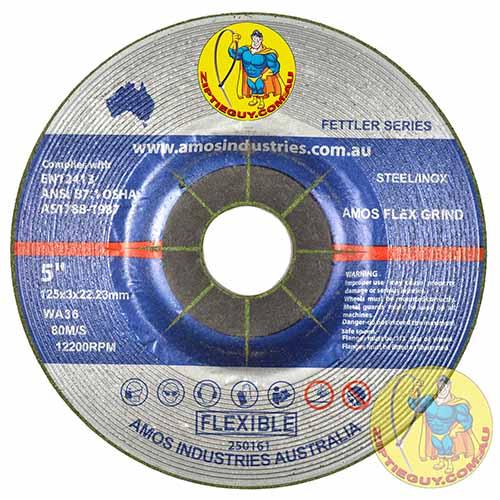 5″ 125mm x 3mm x 22.23mm Flexible Grinding Wheel