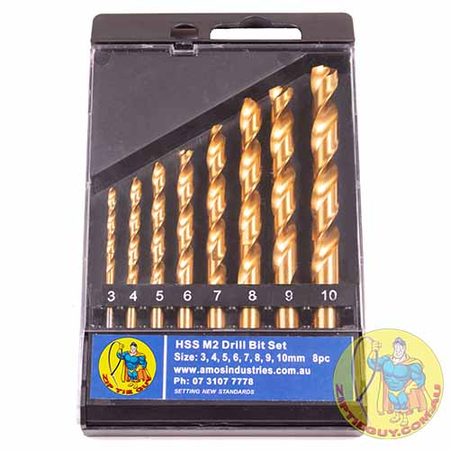 High Speed Steel (HSS) ) M2 Drill Bit Set 8pc