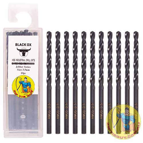 Black Oxide High Speed Steel (HSS) 3.5mm 10pc