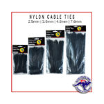 Black Nylon Cable Tie Package - Various Sizes ALT