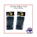 Black Nylon Cable Ties 3.6x150mm