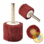 Red Scotchbrite Polishing Wheel with Shank 60x30mm