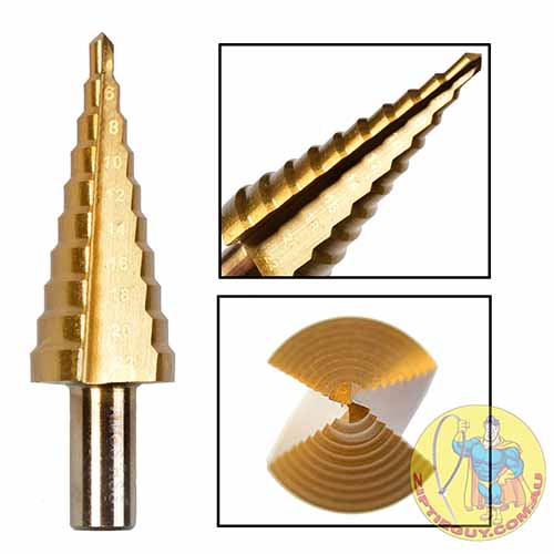 M2 TiN Coated Step Drill Bit