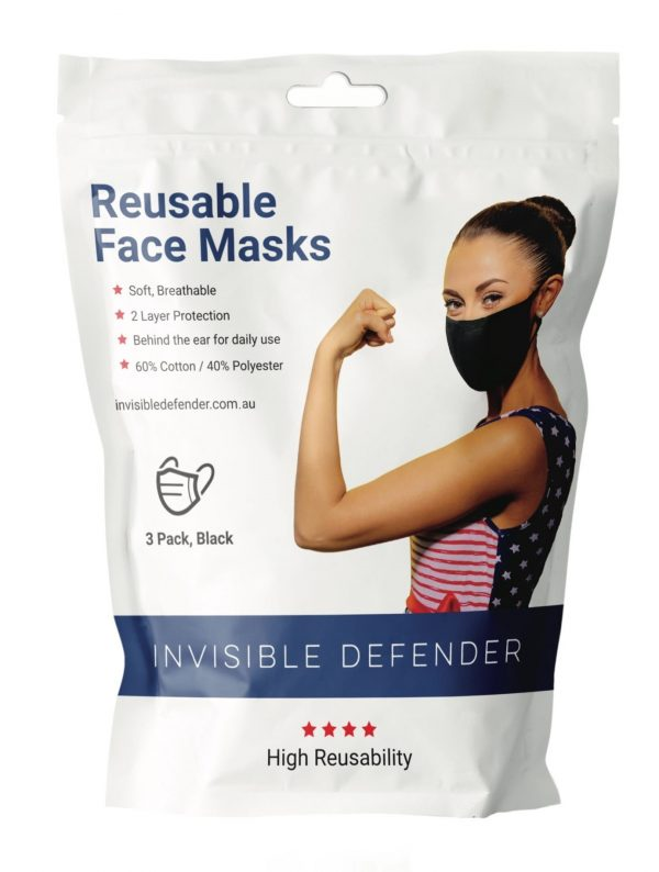 Reusable Face Masks 3 Pack