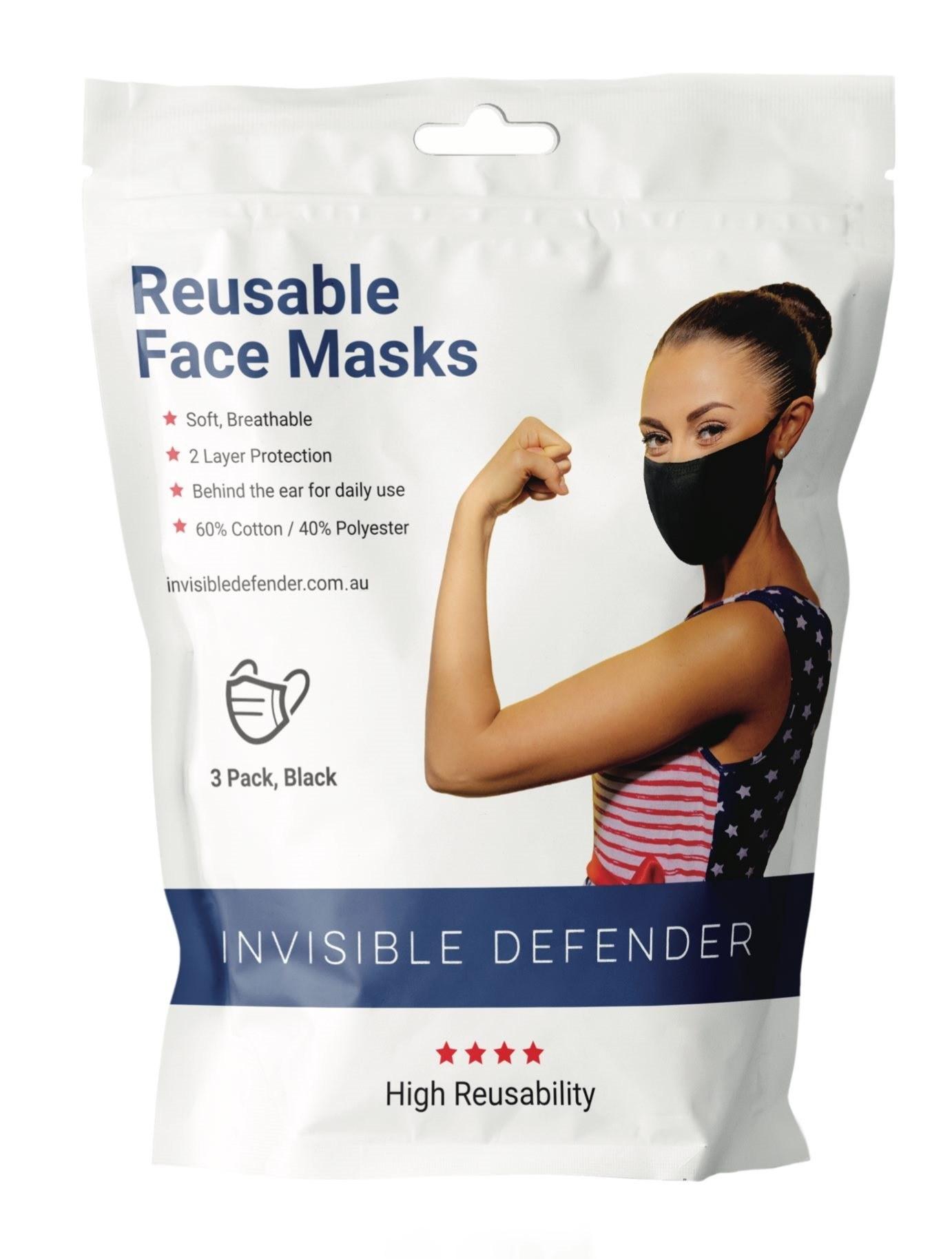 Reusable 2 Ply Fabric Face Masks